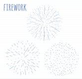 Set of sketch festive firework bursting in various sparkling shapes abstract   illustration Stock Images