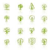 Set of sketch trees for your design Stock Image