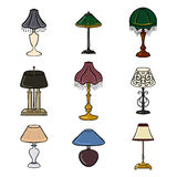 Set of Sketched Table Lamps Stock Photography