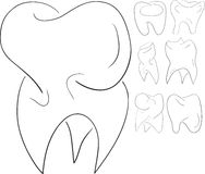 Set of sketches teeth Stock Photography