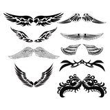 Set sketches of wings Royalty Free Stock Photo