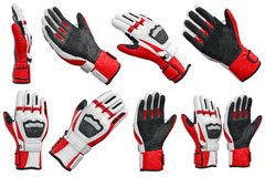 Set skiing sports gloves Stock Images