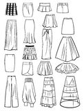 Set of skirts Stock Photography