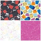 Set of skirts seamless pattern background. Vector illustration Stock Photo