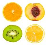 set skivor för frukt Royaltyfri Fotografi