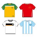 set skjortafotboll för fotboll vektor illustrationer
