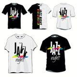 set skjortor t för jazz Arkivbild