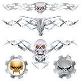 Set skull Royalty Free Stock Images