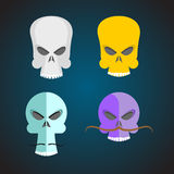 Set Skull Cartoon. Royalty Free Stock Photography