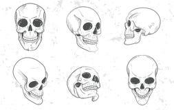 Set of skull heads Stock Photos