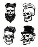 Set of skull illustration Stock Image