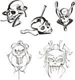 Set of skulls and boneheads Royalty Free Stock Photo
