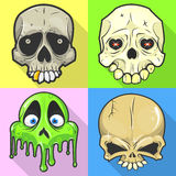 Set of skulls. Stock Photography