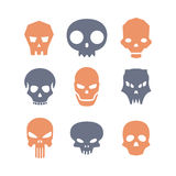 Set of skulls Royalty Free Stock Photography