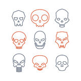 Set of skulls Stock Photos