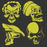 Set of skulls. Vector illustration. Stock Images