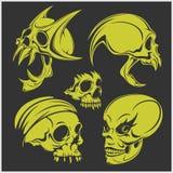 Set of skulls. Vector illustration Royalty Free Stock Images