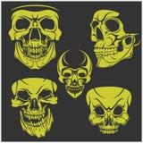 Set of skulls. Vector illustration Stock Photography