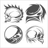 Set of skulls. Vector illustration. Royalty Free Stock Photos