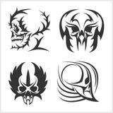 Set of skulls. Vector illustration. Royalty Free Stock Images