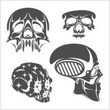 Set of skulls. Vector illustration. Royalty Free Stock Photos