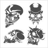 Set of skulls. Vector illustration Stock Photo