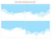 Set of Sky Background Royalty Free Stock Photo