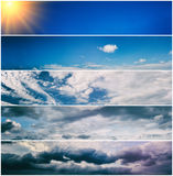 Set of sky banners Royalty Free Stock Image
