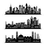 Set of skyscraper sketches. City design Royalty Free Stock Photography