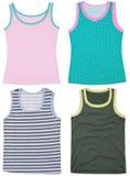 Set of sleeveless shirts. Isolated on white Royalty Free Stock Photos