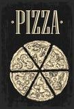 Set slice pizza Pepperoni, Hawaiian, Margherita, Mexican, Seafood, Capricciosa. Stock Image