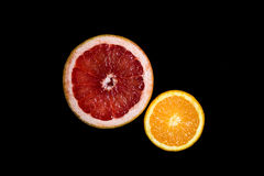 Set of sliced citrus fruits orange, grapefruit Royalty Free Stock Photos