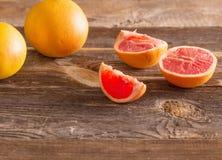 Set of sliced citrus fruits Stock Photo