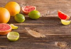 Set of sliced citrus fruits Royalty Free Stock Image