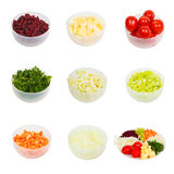 Set sliced vegetables on a plate  isolated Royalty Free Stock Image