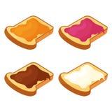 Set of slices of fried bread. Vector illustration vector illustration