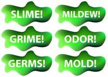 set slime för symbol vektor illustrationer