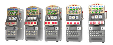 Set of slot machines Stock Image