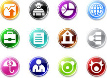 Set of small business icons. Royalty Free Stock Images