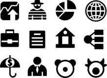 Set of small business icons. Stock Photos