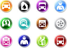 Set of small car icons Stock Photography
