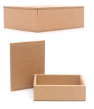 Set small cardboard boxes Royalty Free Stock Photo