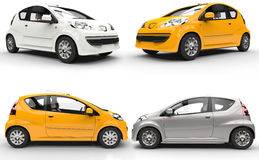 Set of small cars Royalty Free Stock Photography