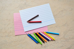A set of small colored pencils Royalty Free Stock Photos
