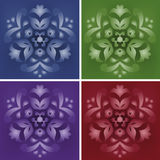 Set of 4 small elegance ornaments Stock Photography