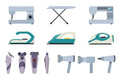 Set of small household appliances Stock Image