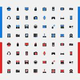 Set of small icons. Household appliances. Consumer Electronics. Vector. Stock Images