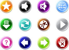 Set a small icons - Web browser. Royalty Free Stock Photos