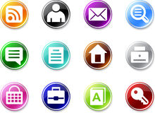 Set a small icons - web site Royalty Free Stock Photo