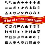 Set of small web icons Stock Photos